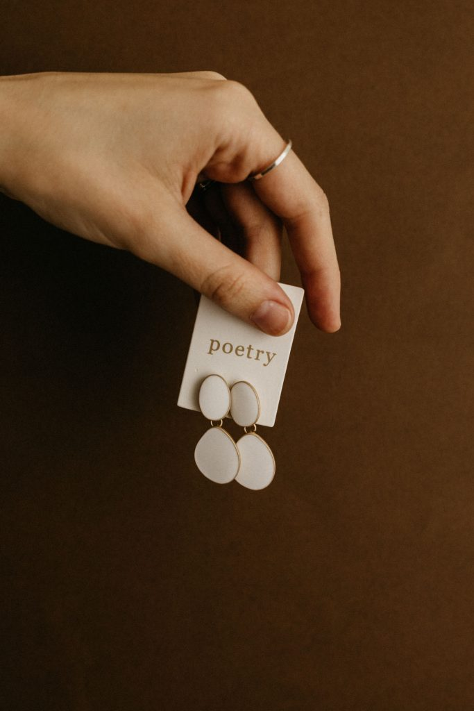gift idea poetry earings